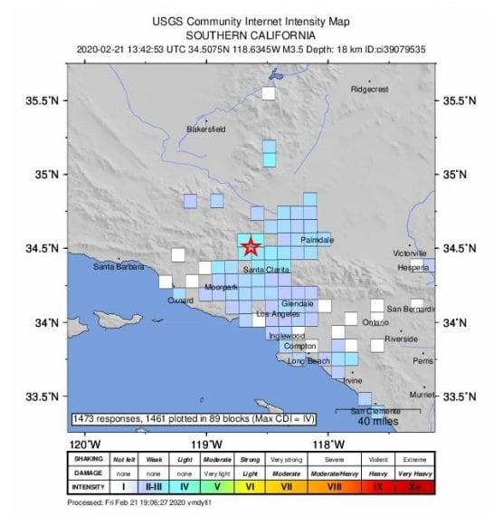 magnitude 3.5 earthquake