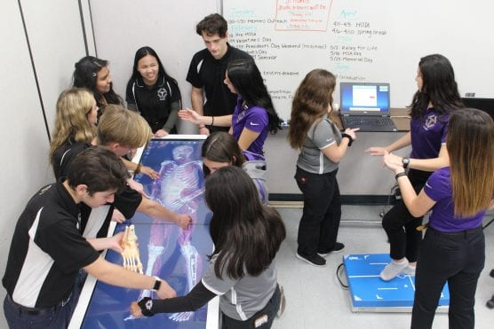 Valencia High School students train in a simulated ER as part of the school's Medical Science Academy. | Courtesy photo.