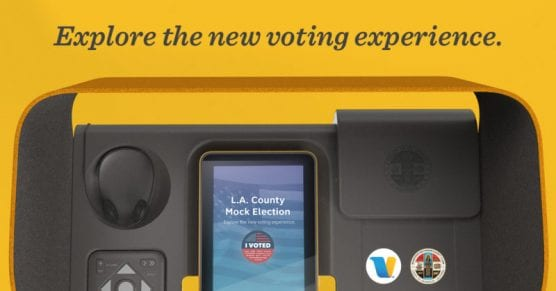 wait times - Mock elections for Voting Solutions for All People took place Sept. 28-29, 2019, at 50 locations across the county, including College of the Canyons. | Photo: Courtesy County of Los Angeles.