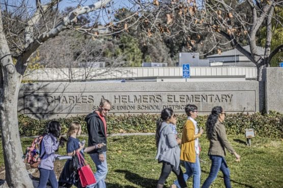 Saugus Union School District officials are discussing plans for Helmers Elementary with parents. | Photo: Bobby Block / The Signal.