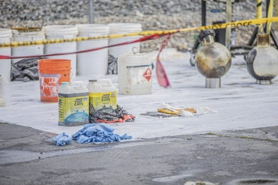 cannabis flowers - More lab equipment removed from a commercial property on Bouquet Canyon Road by state and federal authorities Thursday afternoon, March 19, 2020.   Photo: Bobby Block / The Signal.