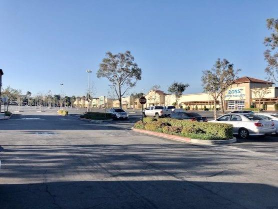 Empty Parking Lot Valencia Marketplace