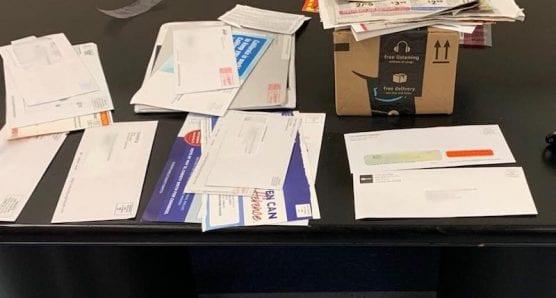 Mail Theft Allegedly Stolen from Saugus Neighborhood