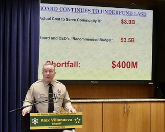 Sheriff Alex Villanueva Announces Widespread Cuts