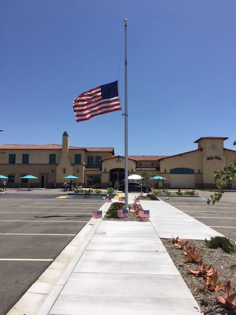 Bella Vida Senior Center Lunch Drive-Thru during Friday's Memorial Day ceremony
