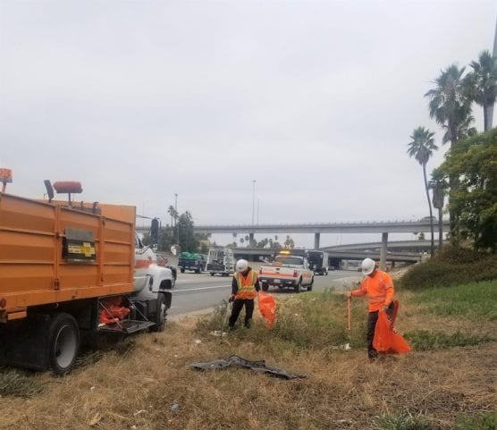 Caltrans Litter Removal