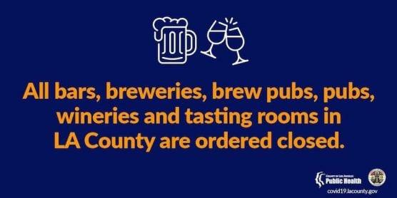 LA County Bars Closed