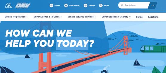 New DMV Webpage