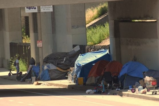 homeless bed space -- Homeless encampments will be a focus for Los Angeles County in the coming year as they attempt to humanely remove people into shelter space as part of a federal lawsuit. | Photo: Courthouse News / Nathan Solis.