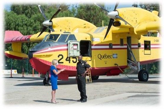 Kathryn Barger/Fire Chief Darryl Osby