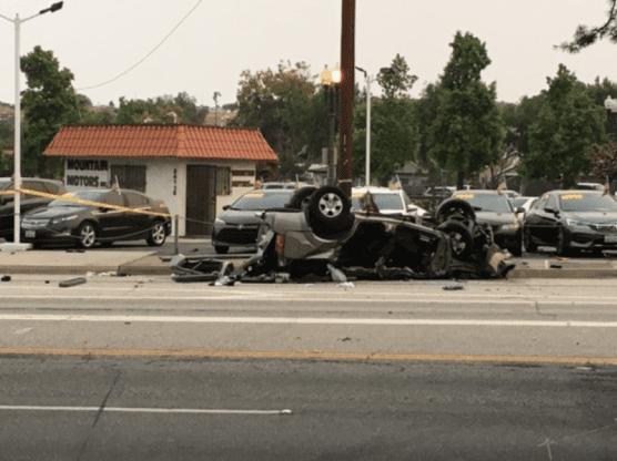 solo rollover crash