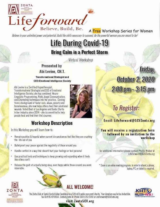 Zonta Club's Lifeforward Workshop
