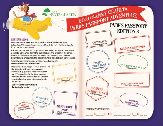 parks passport adventure no 3