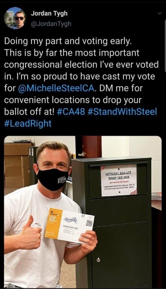 ballot drop box - california gop