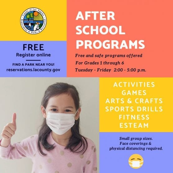 free after school programs offered by L.A. County