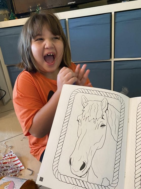 Ariel Torres with Carousel Coloring Book