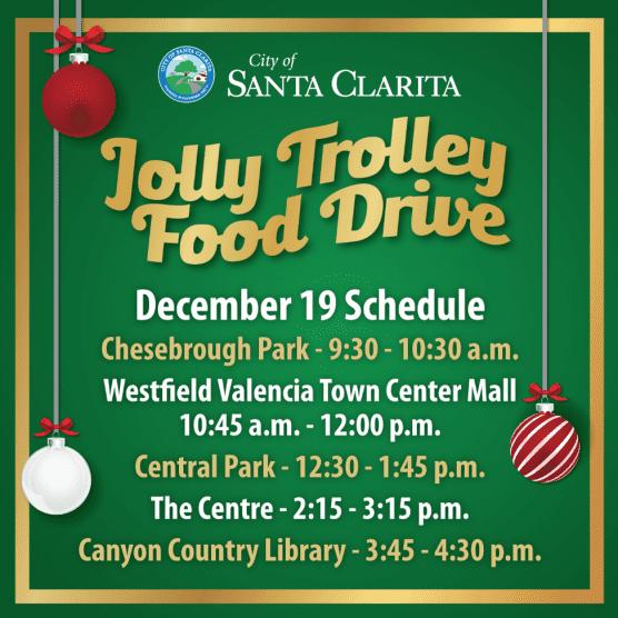 Santa Clarita Trolley Food Drive