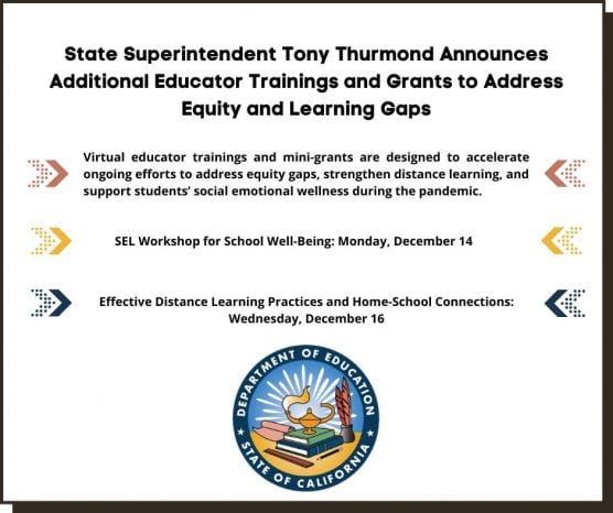 state department of education launches trainings to address equity gaps