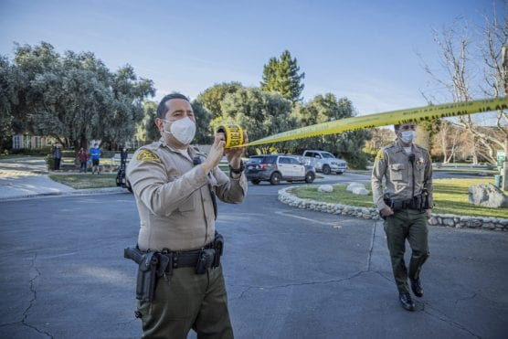 SCV Deputies Secure Crime Scene