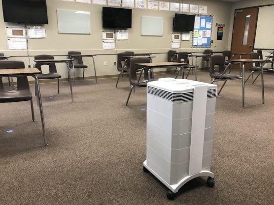 HEPA Machine in Classroom