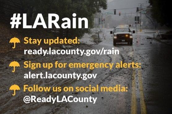 LA Rain Preparedness Banner