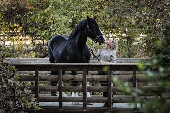 Marcia Mayeda with Horse