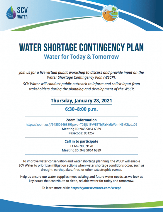SCV Water Contingency Plan