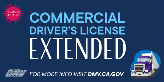 commercial driver's license extended
