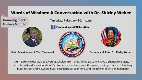 black history month discussion with dr. shirley weber