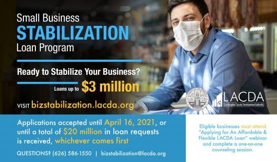 Small Business Stabilization Loan sets deadline