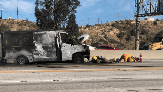 Firefighters Contain Car Fire