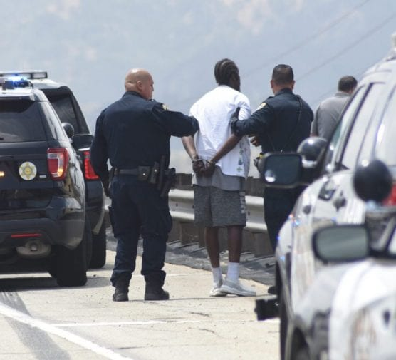 CHP Officers Arrest Man Dancing on State Route 14