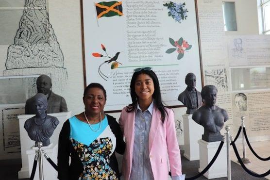 Jamaica Sports Minister Olivia Grange with Film Maker Zuriel Oduwole