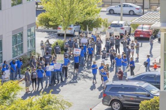 Hart Teachers Protest