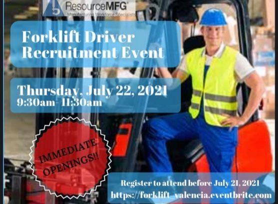 forklift driver recruitment event