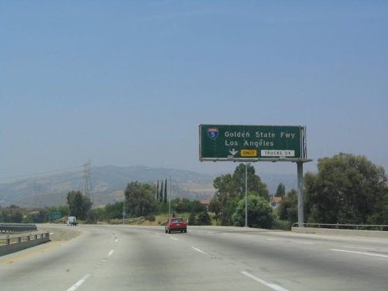 Interstates 210 and 5 interchange