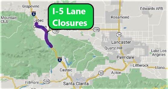I-5 Lane Closures